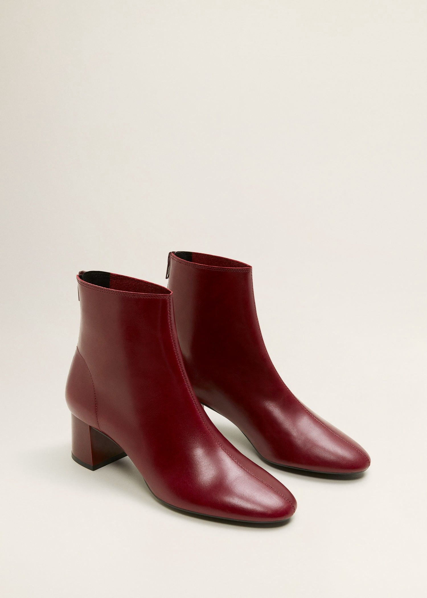 d63f1c828a7 Mango Heel Leather Ankle Boot - 5 in 2019 | Products | Boots, Shoe ...