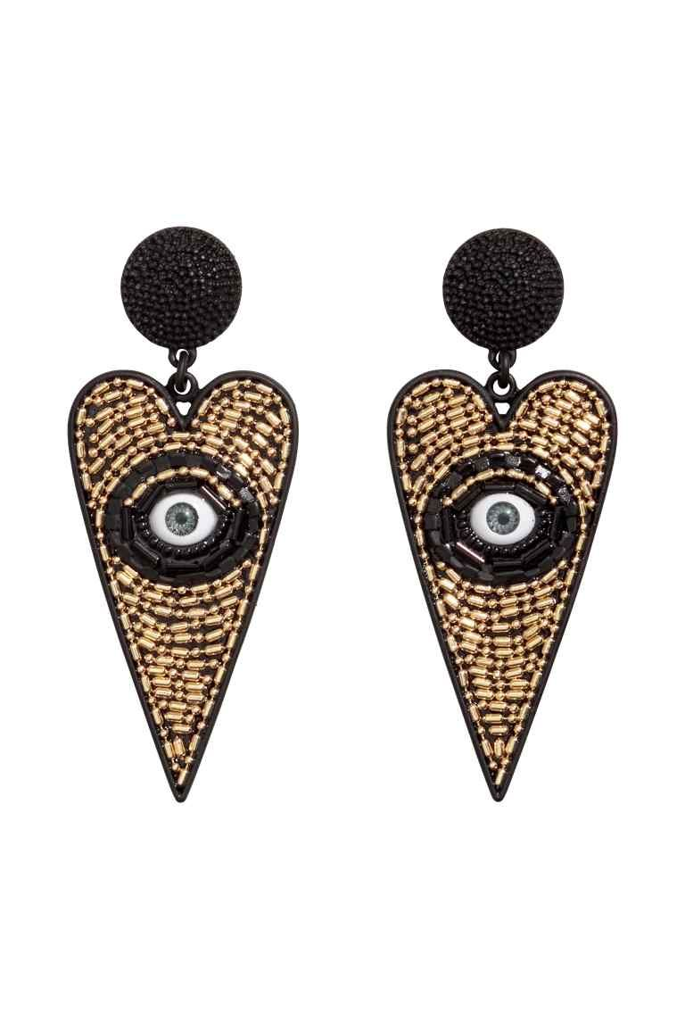 89605692e8fe Large Earrings - Black gold-colored - Ladies