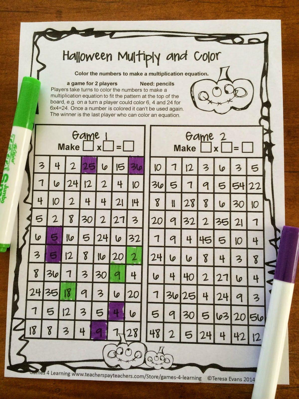 Fun Games 4 Learning Halloween Math Fun Fun Halloween Math Halloween Math Math Games [ 1600 x 1200 Pixel ]