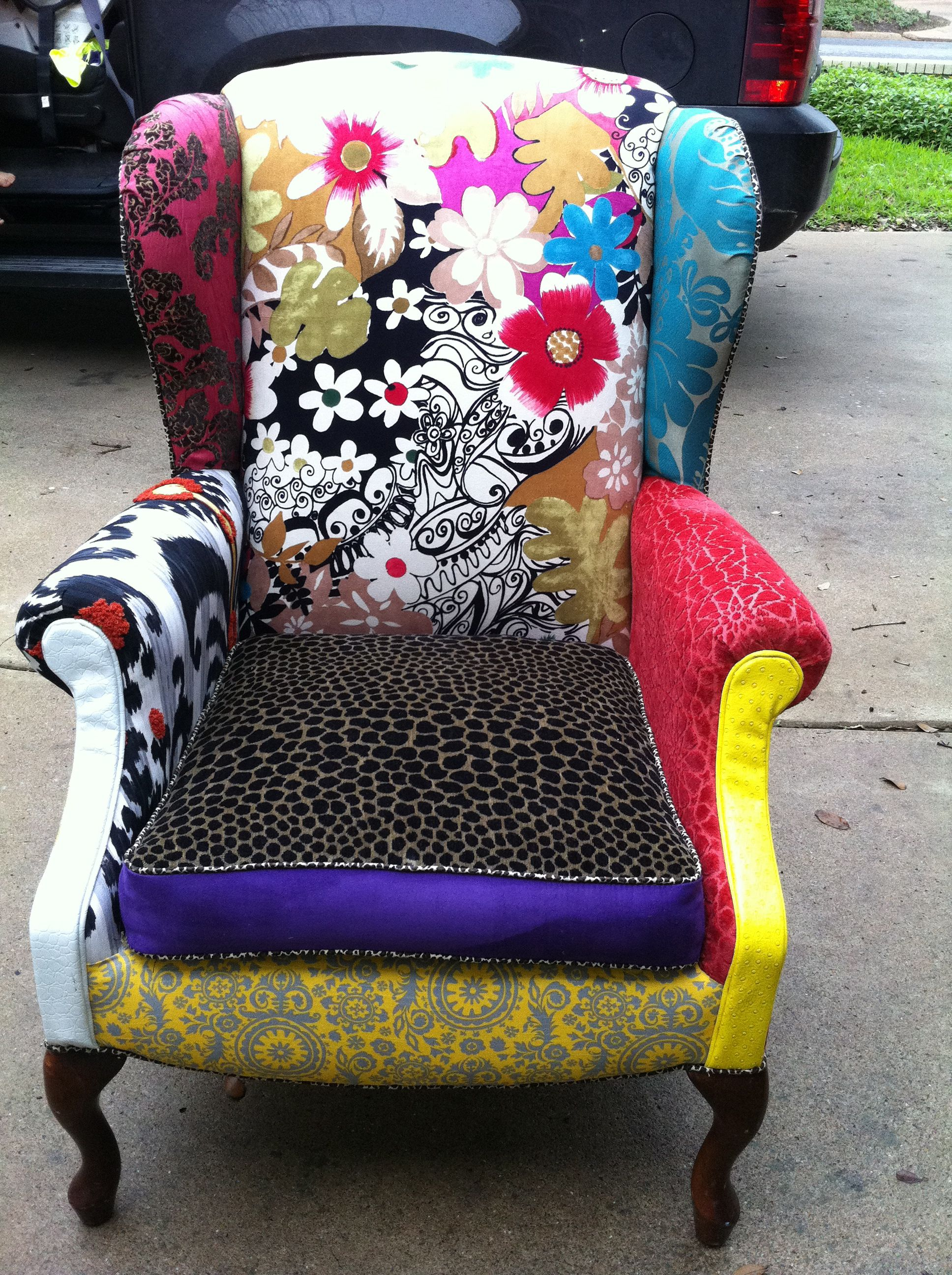 Used Wingback Chairs Wingback Chair That Was Going To Be Thrown Away I Used Left