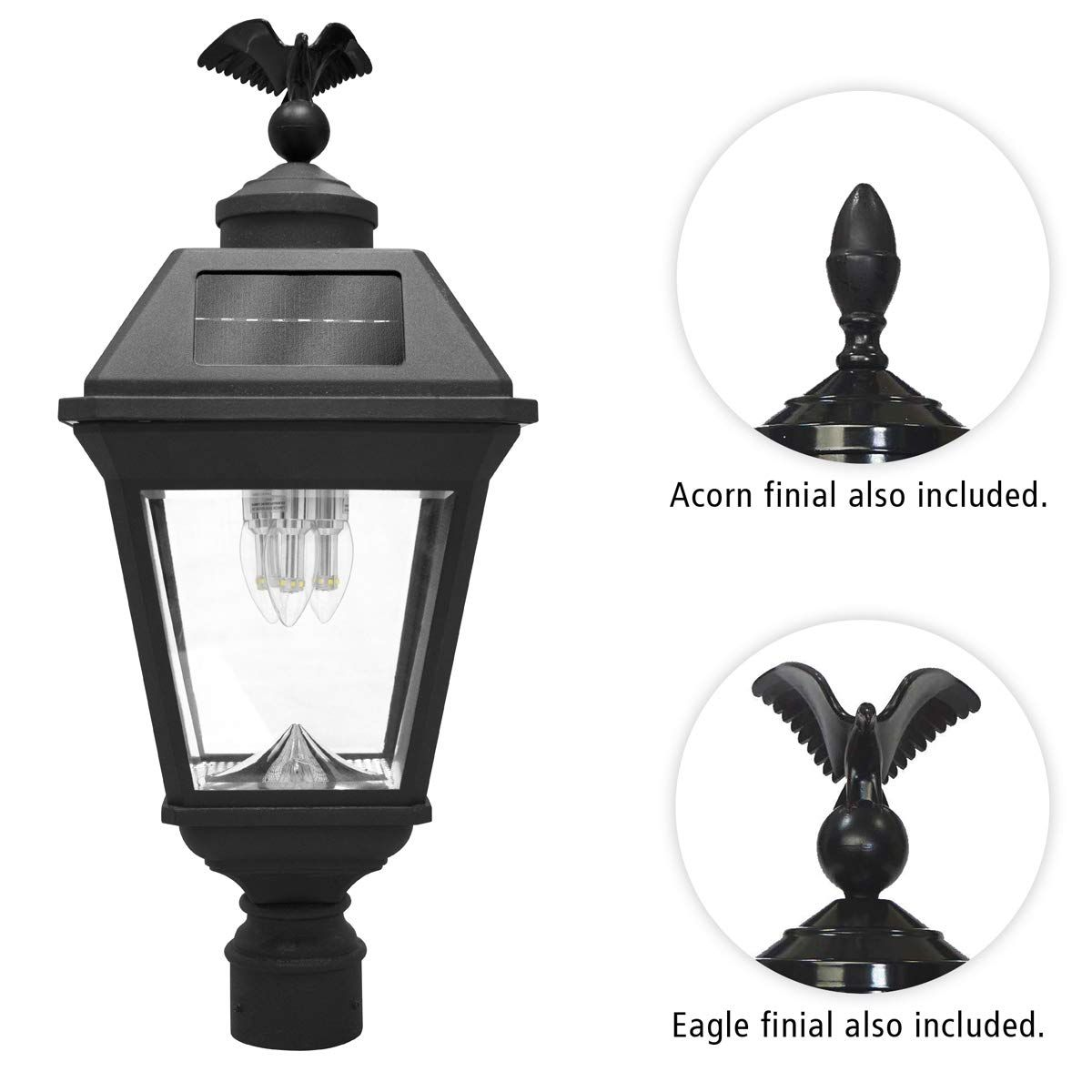 Gama Sonic Imperial Bulb Solar Post Lamp Outdoor Solar Powered Light Pole Post Mount Black Gs 97b Outdoor Post Lights Solar Light Bulb Diy Outdoor Lighting