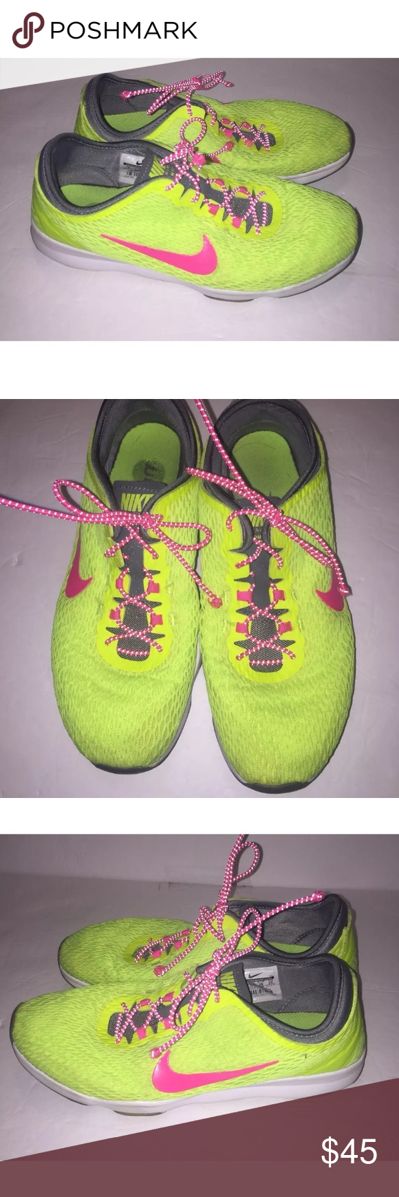 best website 33c37 9c7cc Nike Zoom Fit Training Sneakers 704658-700 Neon Nike zoom for training  sneakers size 8 in good condition. Color is neon green and pink.