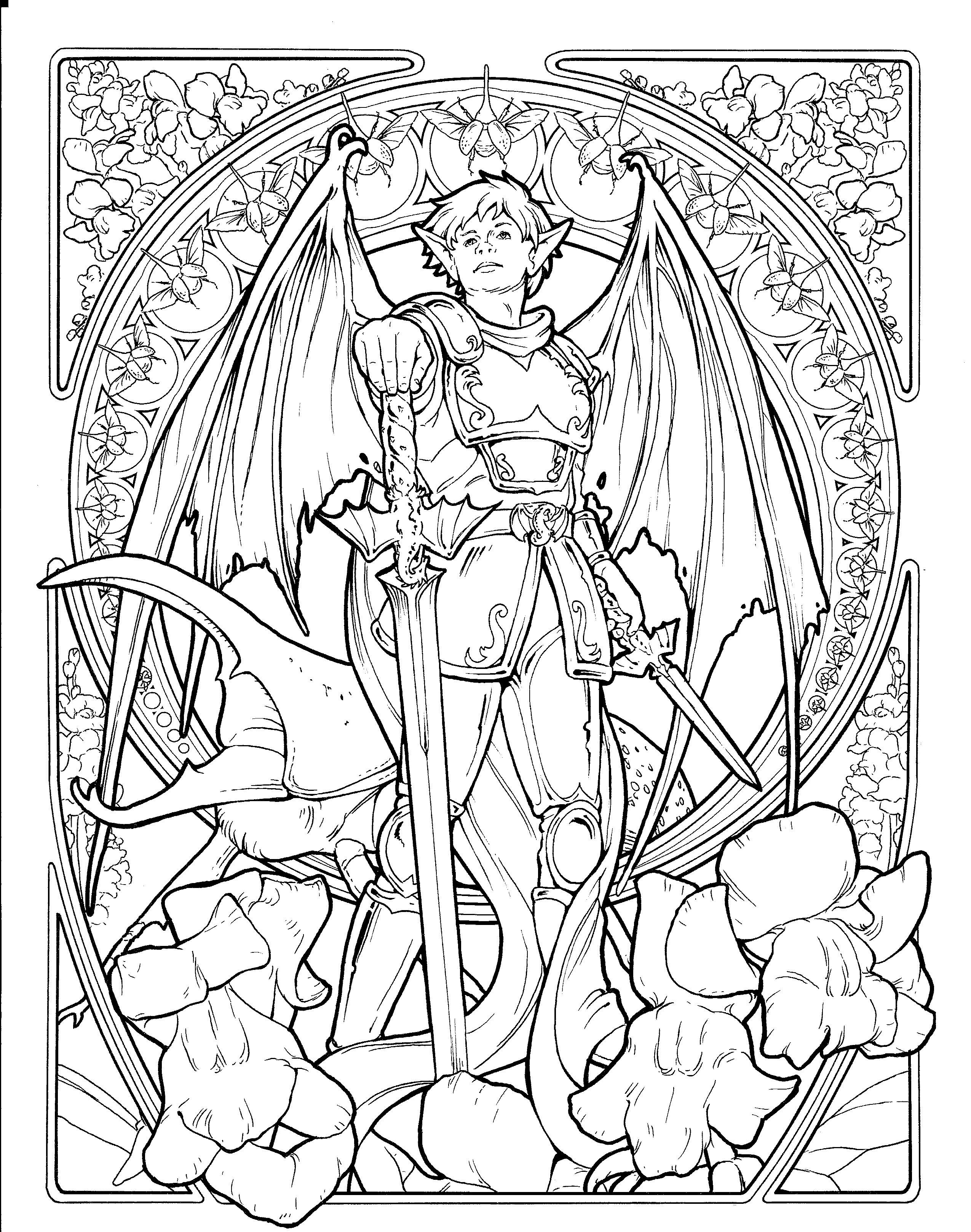Pin By Susie Petri On Lineart Fantasy
