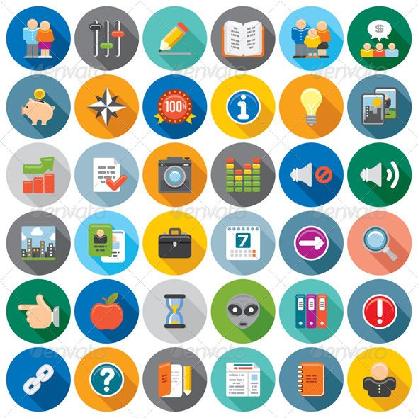 Interface Flat Icon Set N2 Creative Vector Collection of