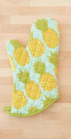 Cute Pineapple Oven Mitt Pineapple Kitchen Decor Pineapple