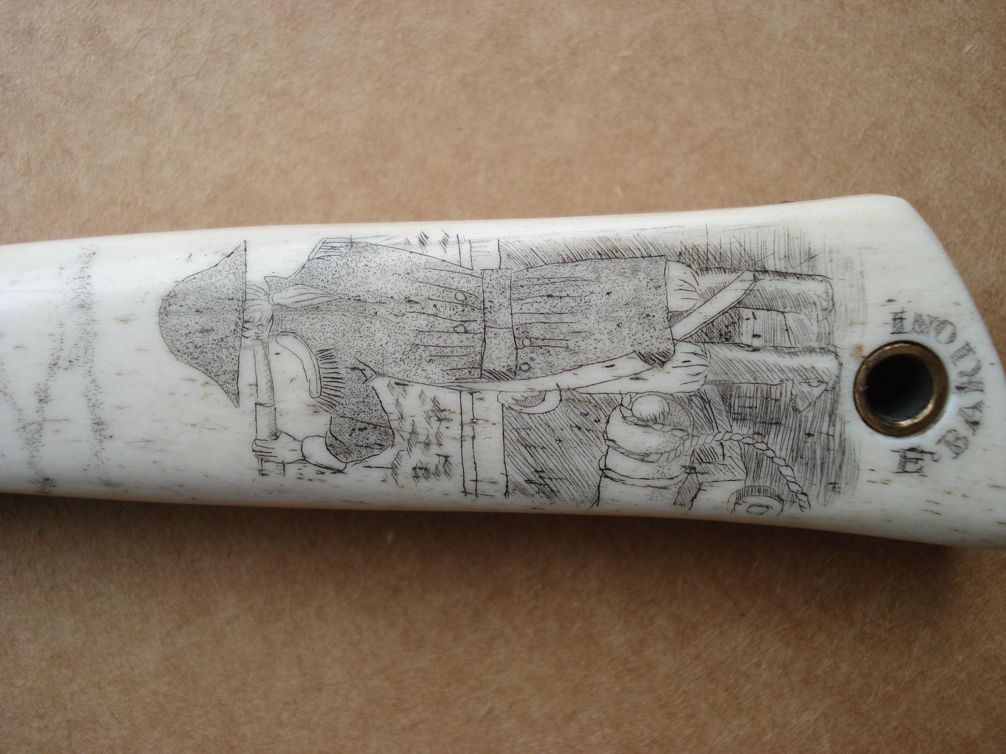 Engraving splint bone in the jackknife