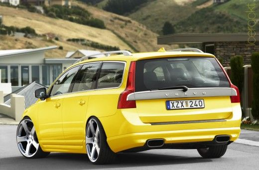 yellow volvo v70 r style f saab volvo v70. Black Bedroom Furniture Sets. Home Design Ideas