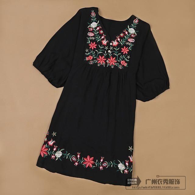 dbe22261922a8 Blouses Tops Dress Gravidas Mexican Dresses, Mexican Blouse, Mexican  Shirts, Maternity Dresses,