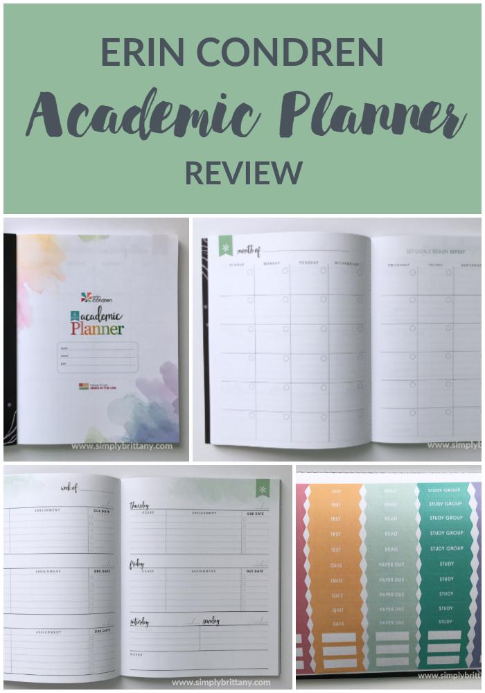 Erin Condren Academic Planner Review Planner Pinterest
