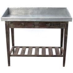 potting bench with metal top and sink - Google Search   Potting ...