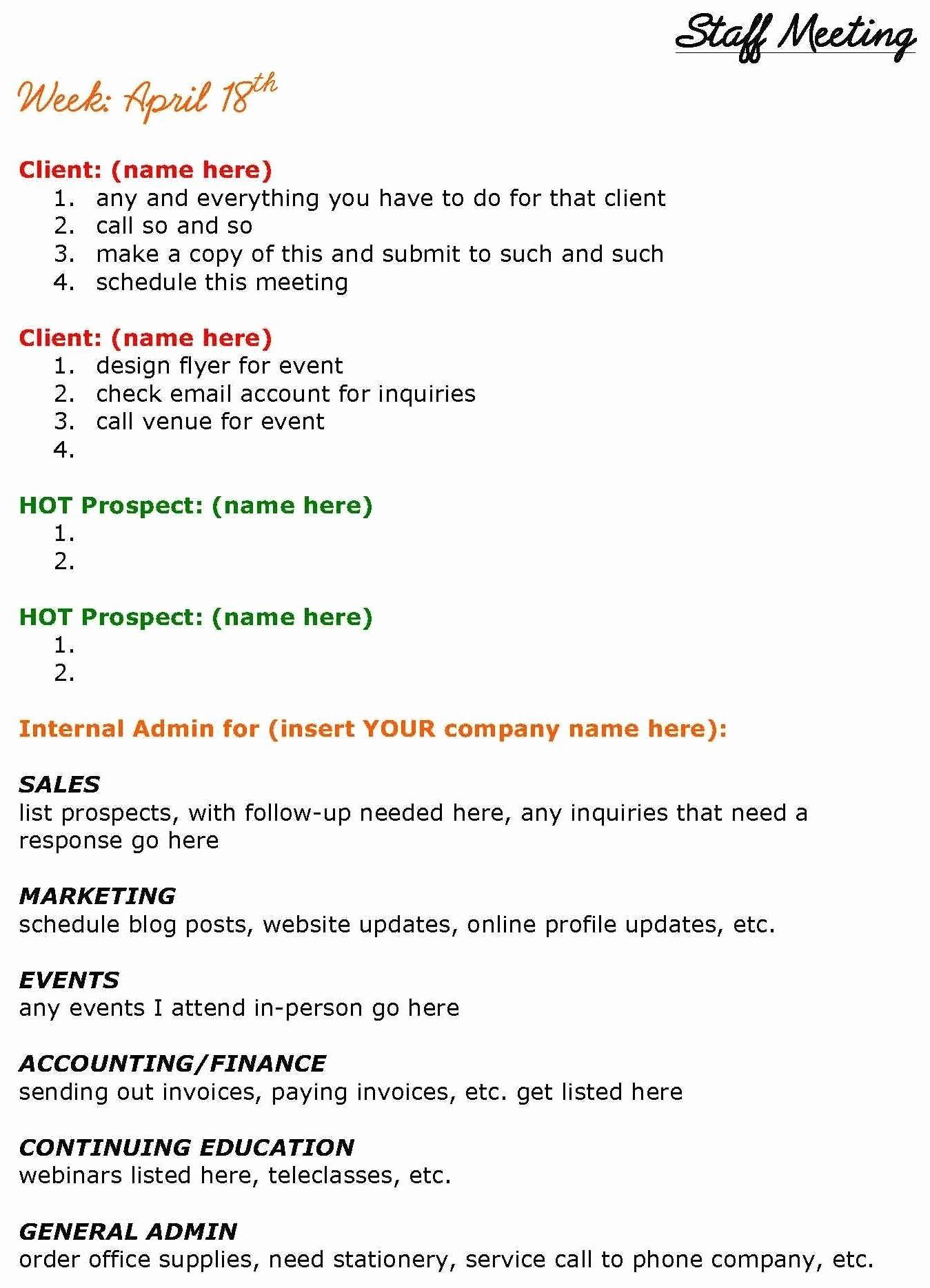 Staff Meetings Agenda Template Best Of Solopreneurs Need Staff Meetings Too See This Staff Meeting Agenda Agenda Template Meeting Agenda Template