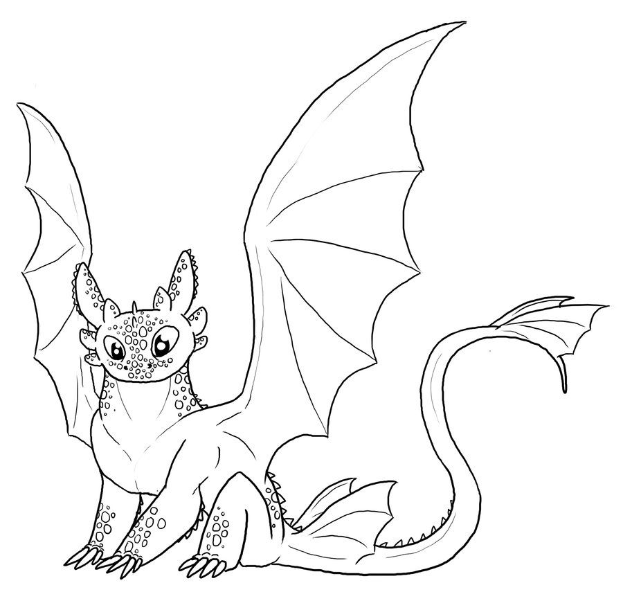 FREE Toothless Lineart by Leafyful on deviantART How To