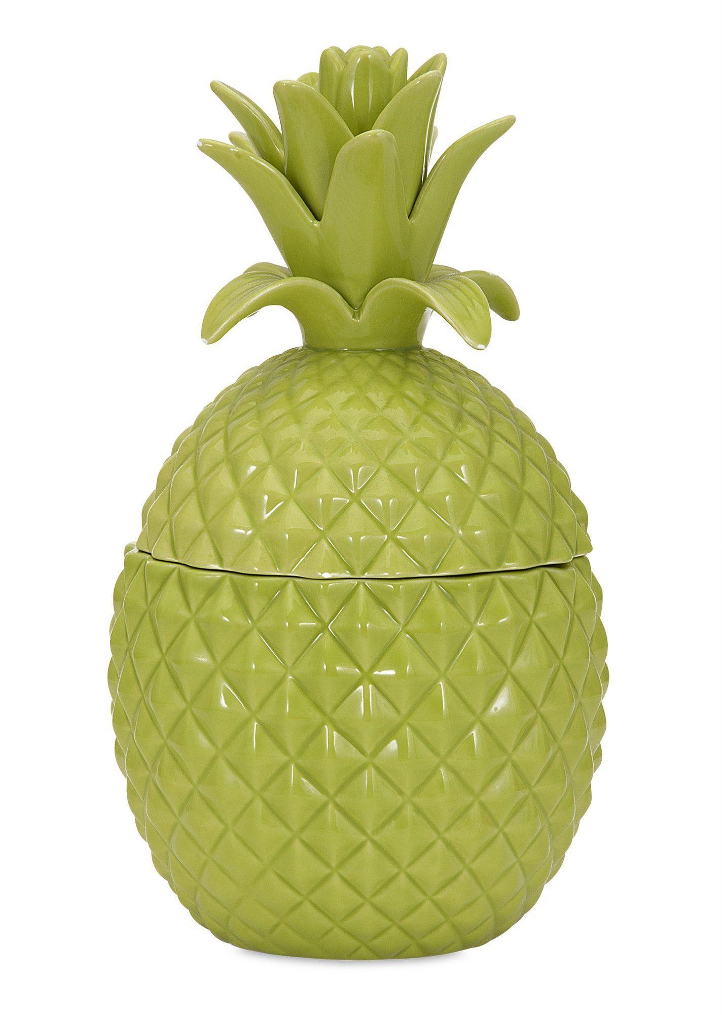 Lidded Pineapple Sculpture