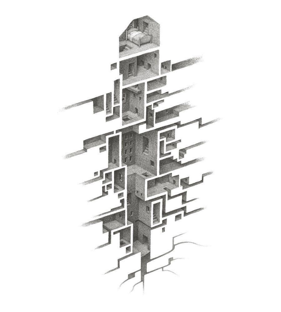 Mathew Borrett Art RoomsDesign IllustrationsIllustration ArtCity DrawingArchitecture DrawingsArt
