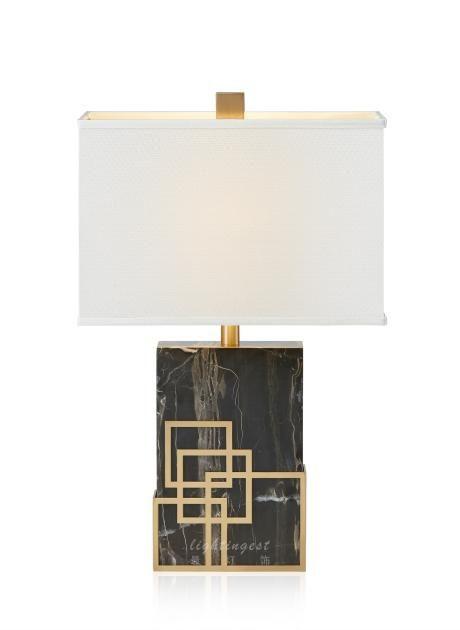 Modern American example room desk lamp【最灯饰】4月新品 现代美式大理石金属高端样板房客厅卧室台灯