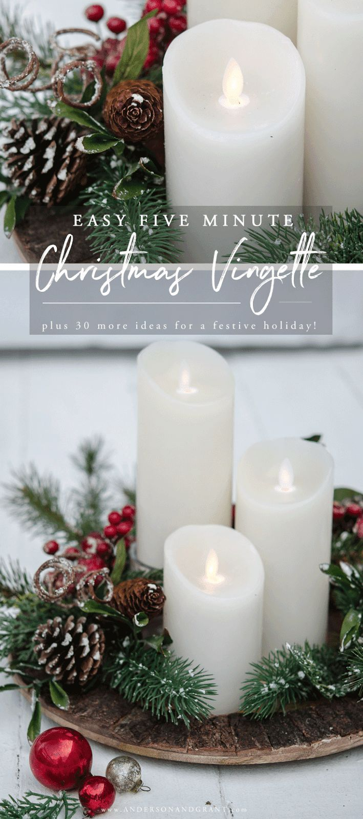 Easy 5 Minute Christmas Vignette and More Inspiration for Your ...