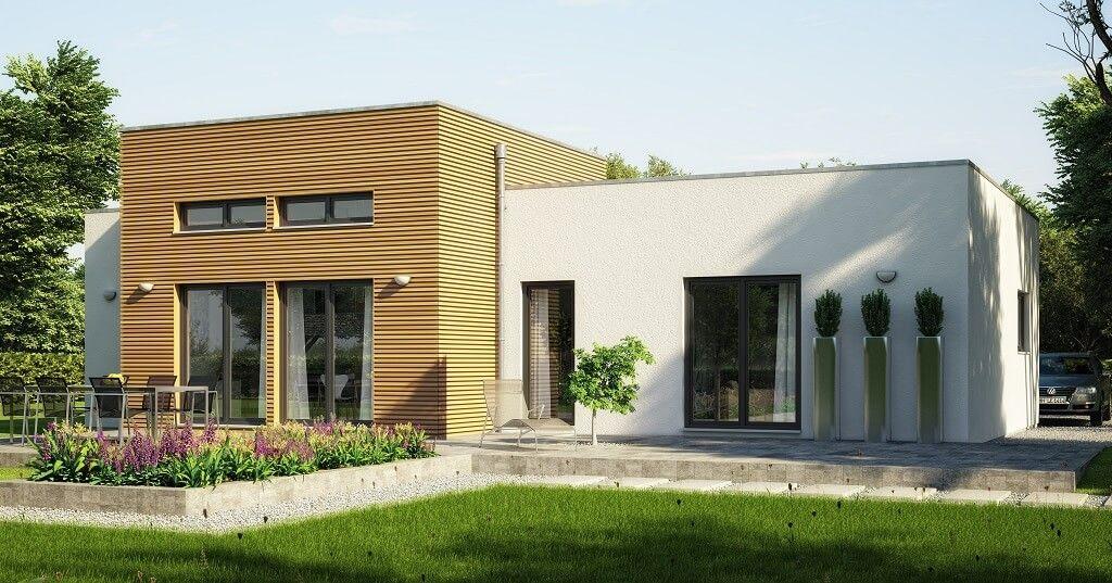Bungalow Haus Evolution 111 V4 Flachdach   Modern Design U0026 Grundriss Bien  Zenker