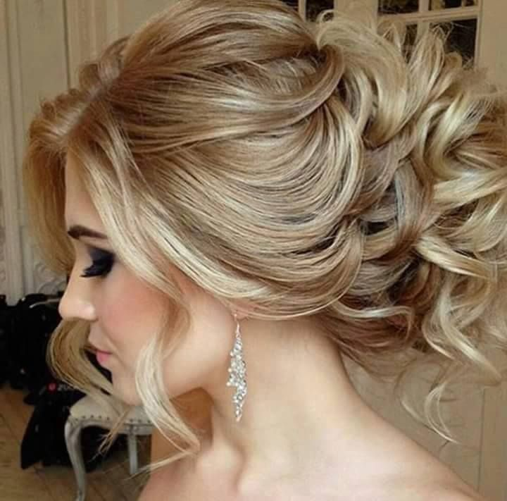 Too Fabulous Not To Pin Curly Loose Wedding Updo