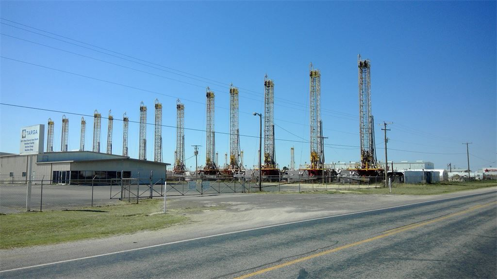 Stacked Rigs North Odessa, Texas Caprock Drilling Yard