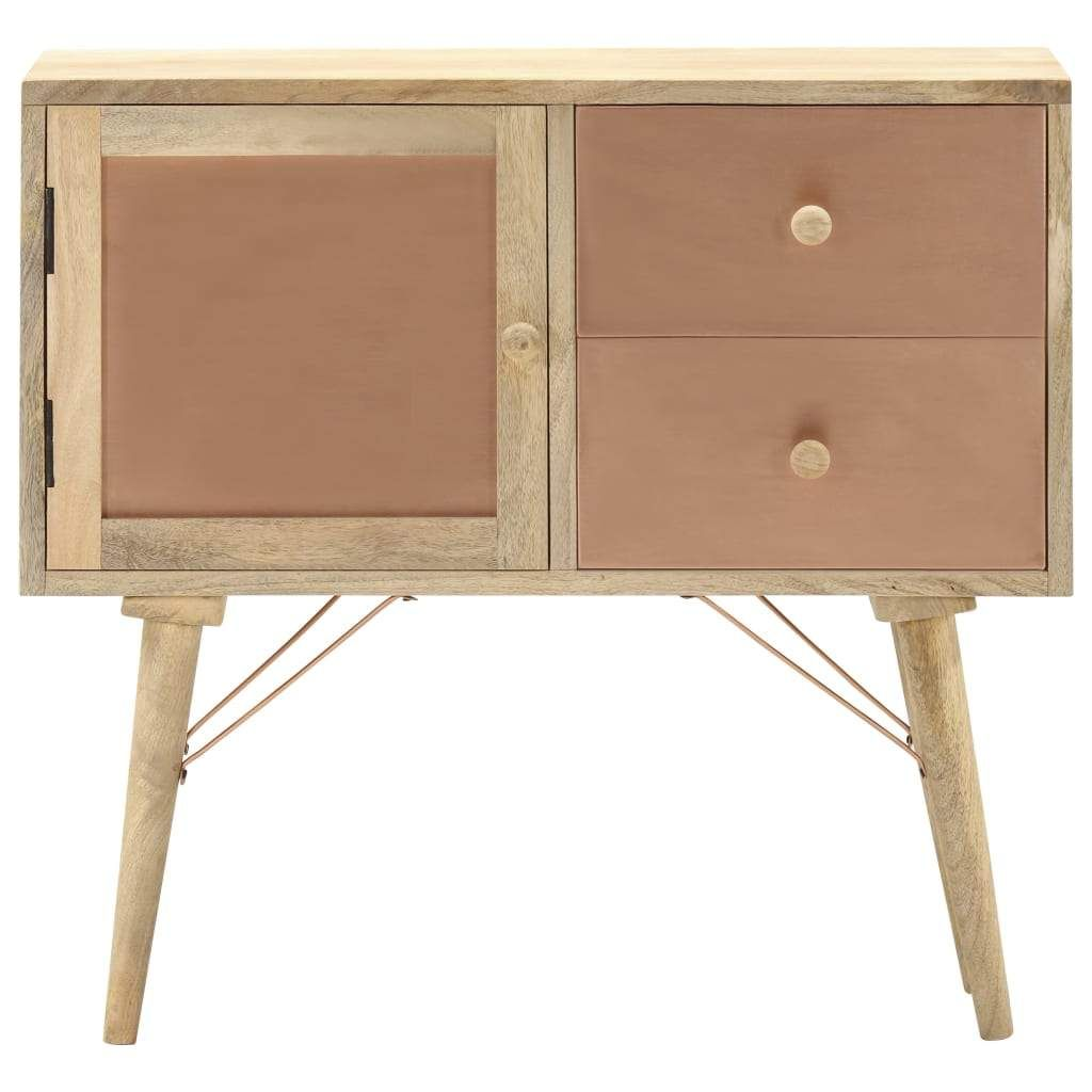 vidaXL Sideboard 80x35x75 cm Solid Mango Wood