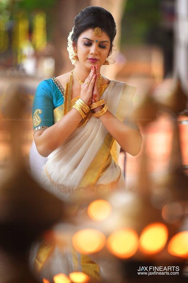 Onam Saree Saree Hairstyles Kerala Traditional Saree Set Saree