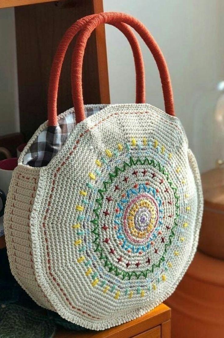 Crocheted Beach Bag- Amazing Beautiful Beach Bags! 35 Free Crochet Patterns New 2019 – Page 9 of 35