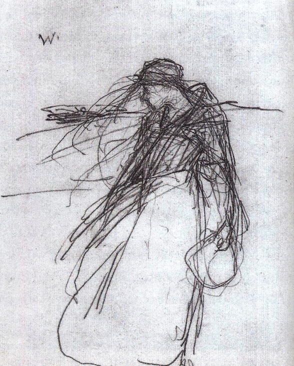 """vjeranski: """"  A sketch by Frank O'Meara for his 1882 painting """"The Widow"""" """""""