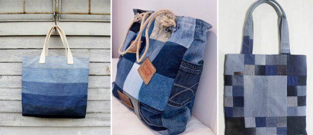 comment faire un sac en jean patrons gratuits tutos et id es de d co coutures pinterest. Black Bedroom Furniture Sets. Home Design Ideas