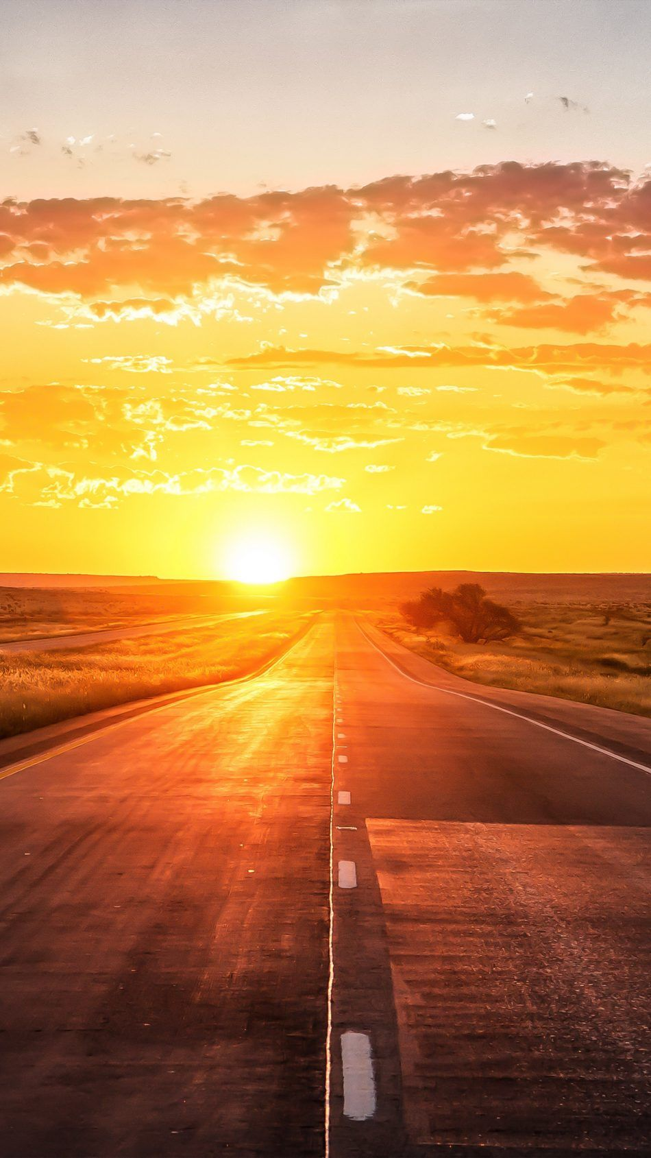 Straight Road Sunset Marking Grass 4k Ultra Hd Mobile Wallpaper Sunset Background Grass Background Cool Backgrounds