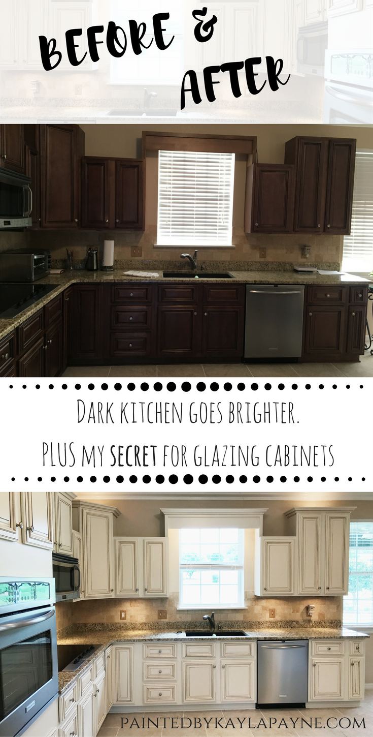 Lighter & Brighter Kitchen Cabinets  How to Update Your Kitchen Cabinets - Kitchen renovation, New kitchen cabinets, Glazing cabinets, Glazed kitchen cabinets, Kitchen cabinets, Kitchen remodel - How to update your kitchen cabinets  From dark and dated to lighter and brighter, see how this kitchen was transformed by the power of paint