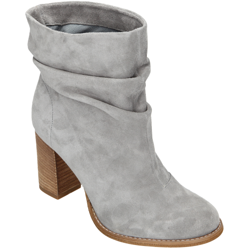 Czas Juz Pomyslec O Wiosnie A Na Wiosne Proponujemy Szare Lub Czarne Botki Na Slupku Z Modnym W Tym Sezonie Marszczeniem Https Woja Boots Shoes Ankle Boot