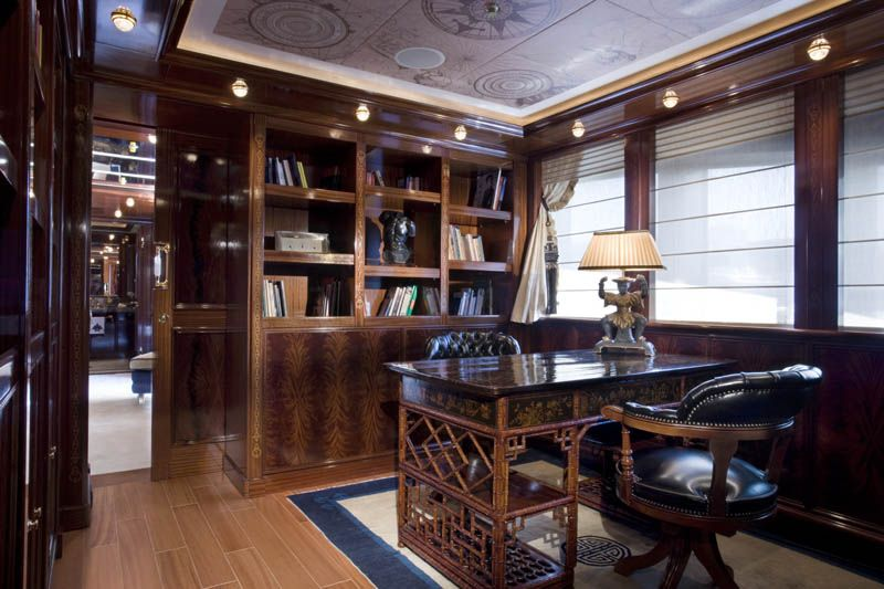 A style to follow this private english style office clad with