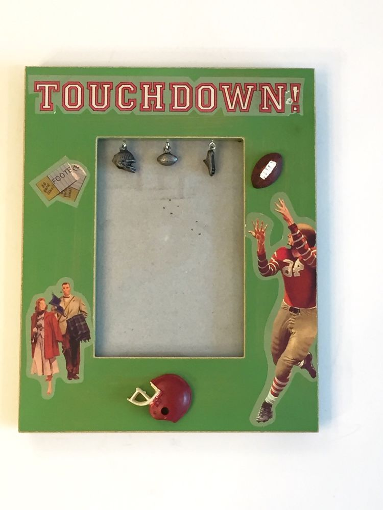 Touchdown Football Sports Youth Team Picture Frame Holds 3x5 Photo New