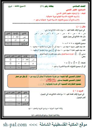 التعلم الذاتي للاسبوع الثالث من ابريل في الرياضيات والعلوم والانجليزي والعربي للصف السادس Blog Page Blog Bullet Journal
