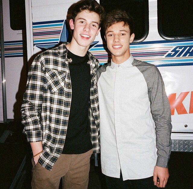 Shawn Mendes and Cameron Dallas 2015