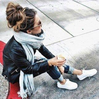 41 Idee per il vestito da giacca di pelle nera alla moda per donna – Autunno X Moda Donna
