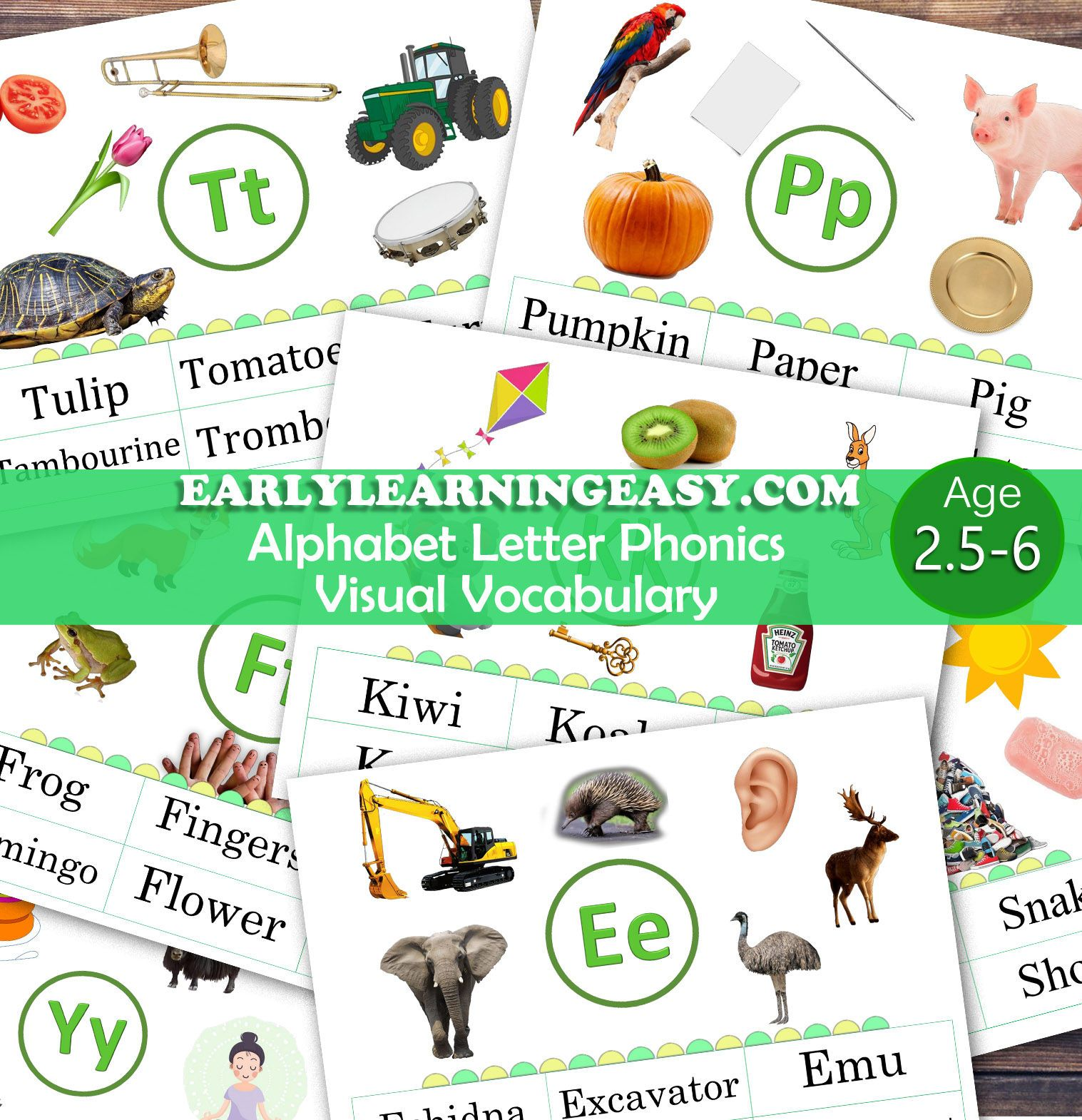 Visual Vocabulary Learning Letters For Toddlers Pre