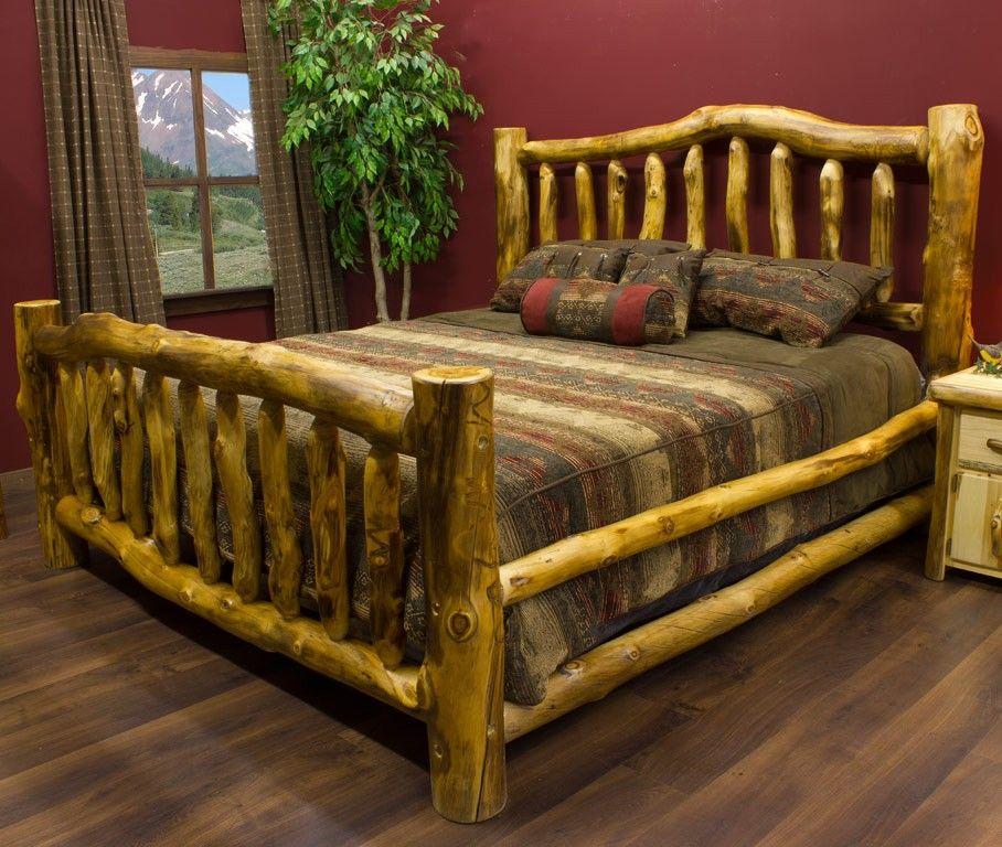 Beartooth Aspen Log Bed Log bed, Log furniture plans