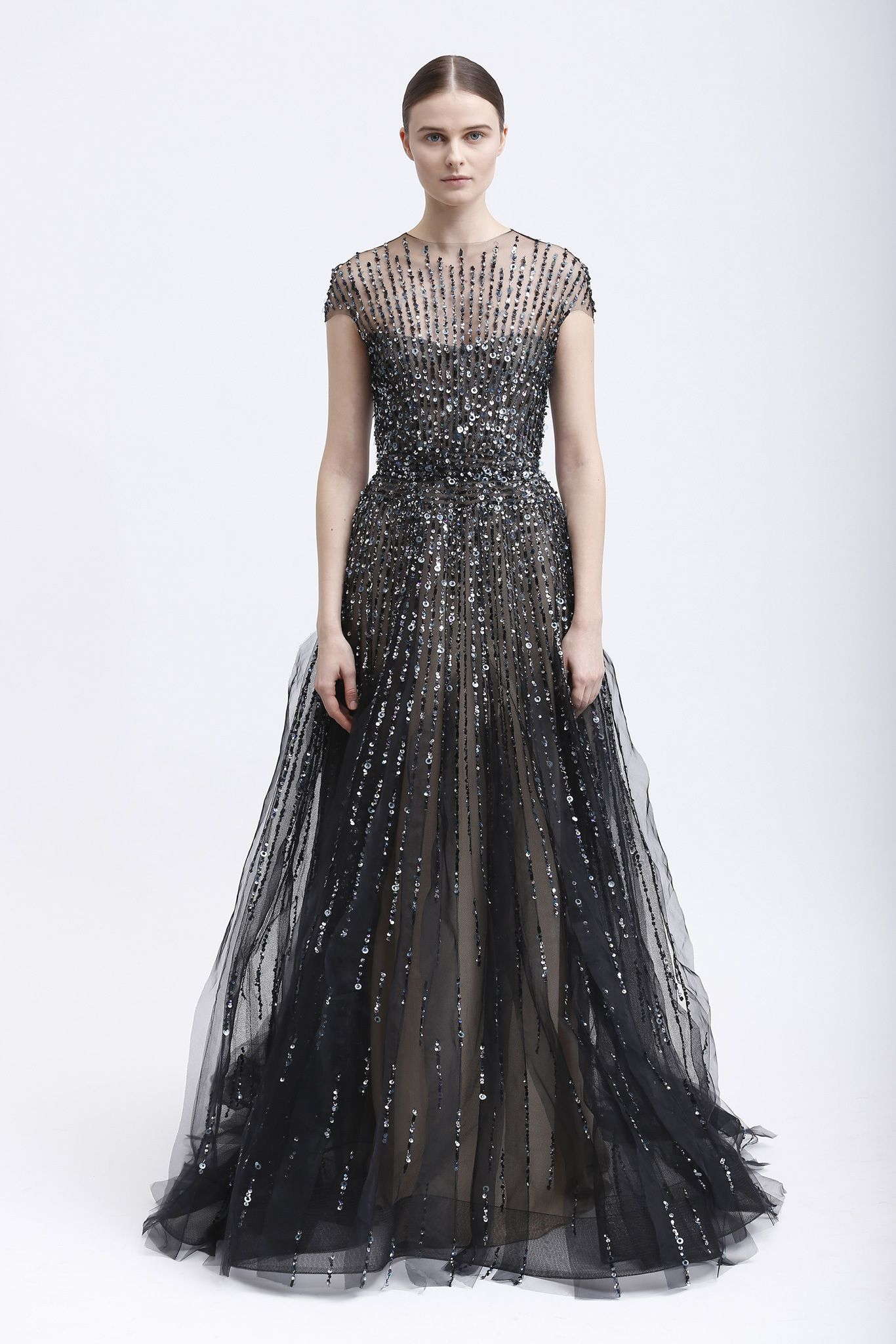 Monique lhuillier prefall dresses in black pinterest