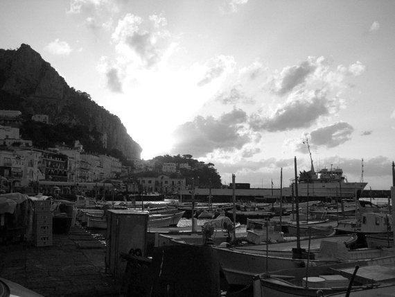 The Sun Sets on Marina Grande Capri  Italy  by MyRoadLessTraveled