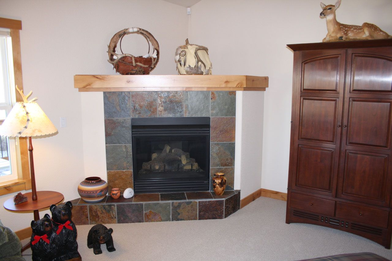 Decorating With A Corner Fireplace, Fireplace, Slate Surrounded Corner  Fireplace