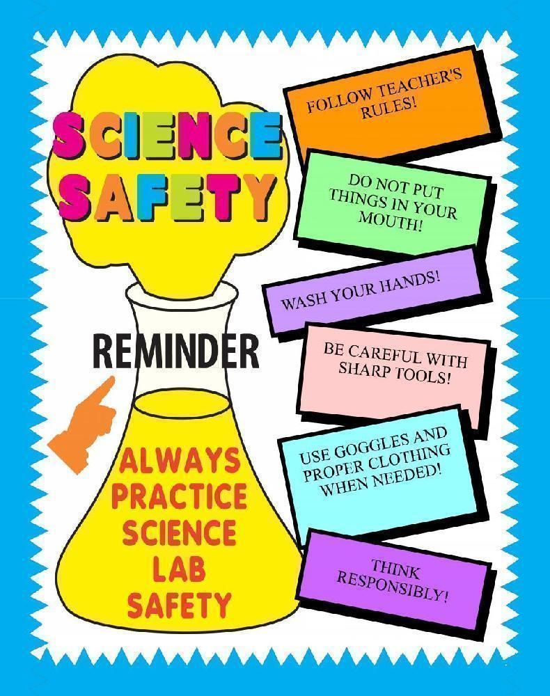c4a8cf21 Make a Science Fair Project about science safety: Lab Safety Poster Ideas  for your Kids.