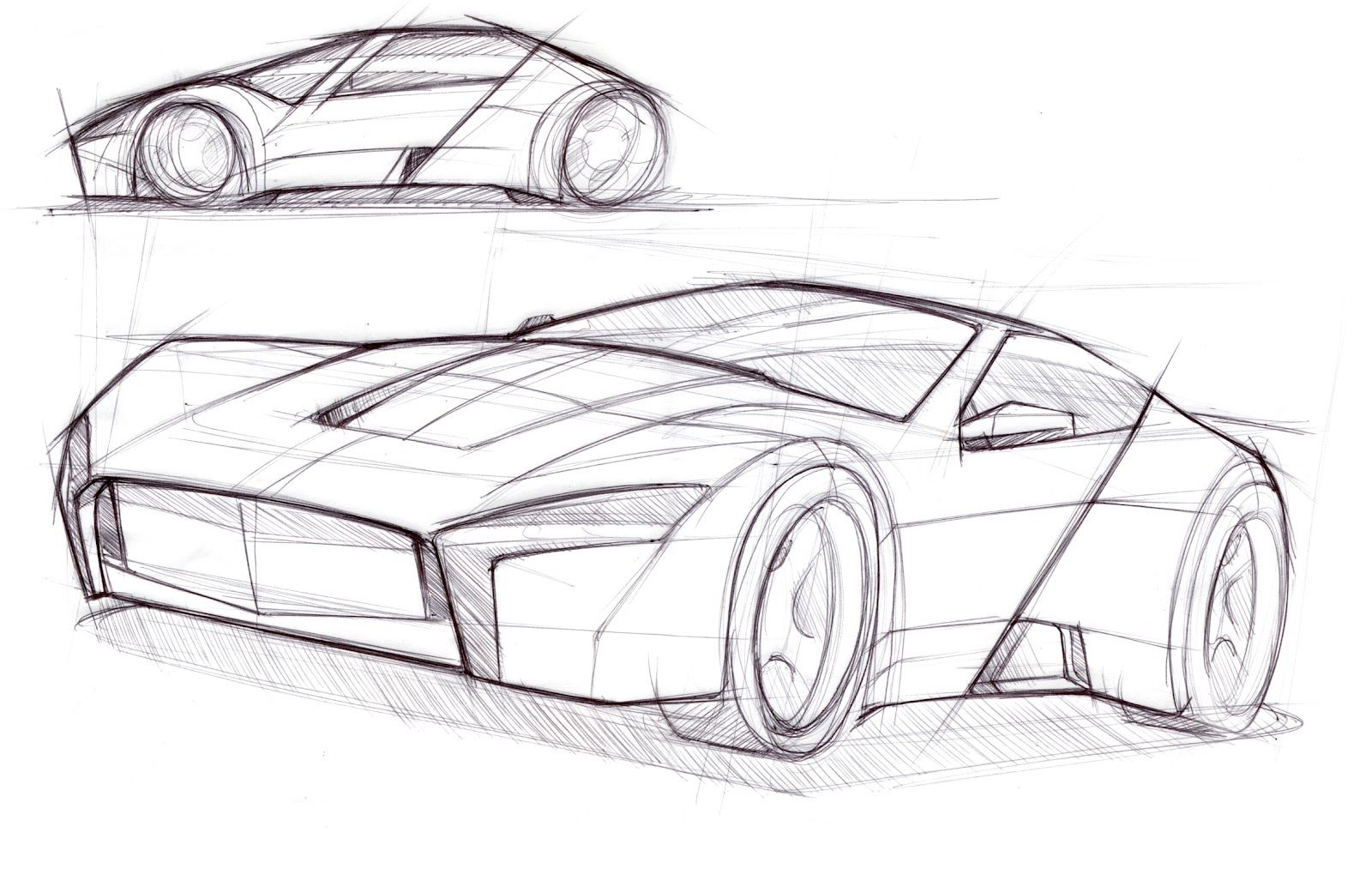 Car Drawings Sketches Sketch Template