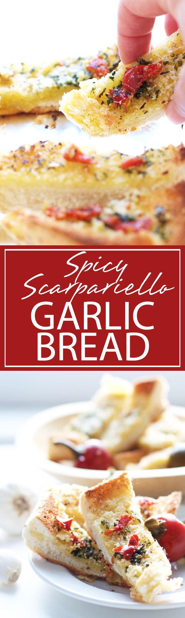 Spicy Scarpariello Garlic Bread | Cooking joy, Food, Food ...