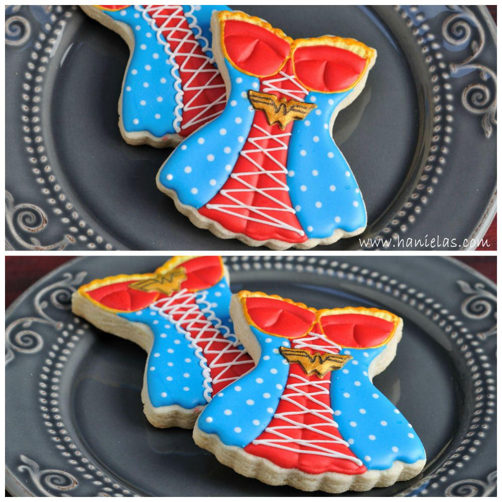 Wonder Woman Corset Cookies with Tutorial | Cookie Connection