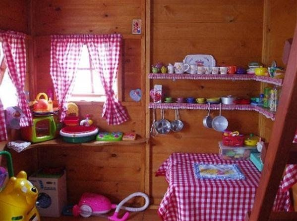 wood outdoor playhouses for kids girls playhouse interior details home design ideas - Playhouse Designs And Ideas