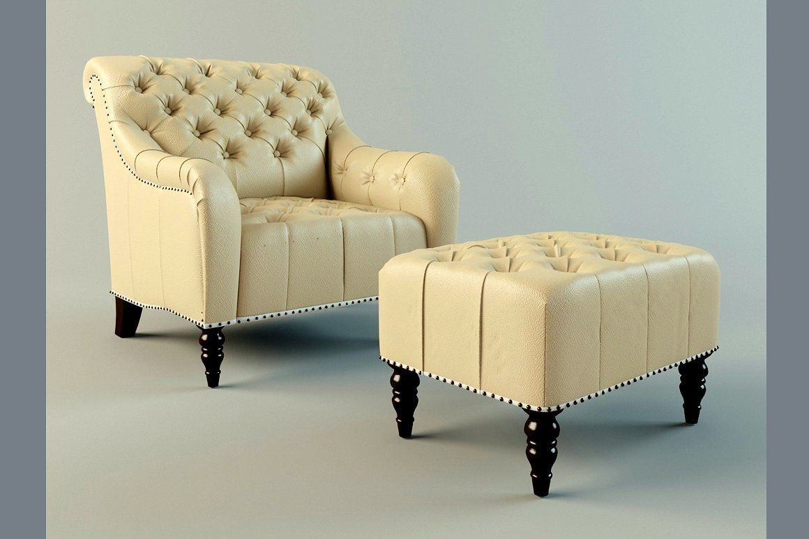 Brady Tufted Leather Chair Ottoman Chair And Ottoman Tufted Leather Chair Leather Chair