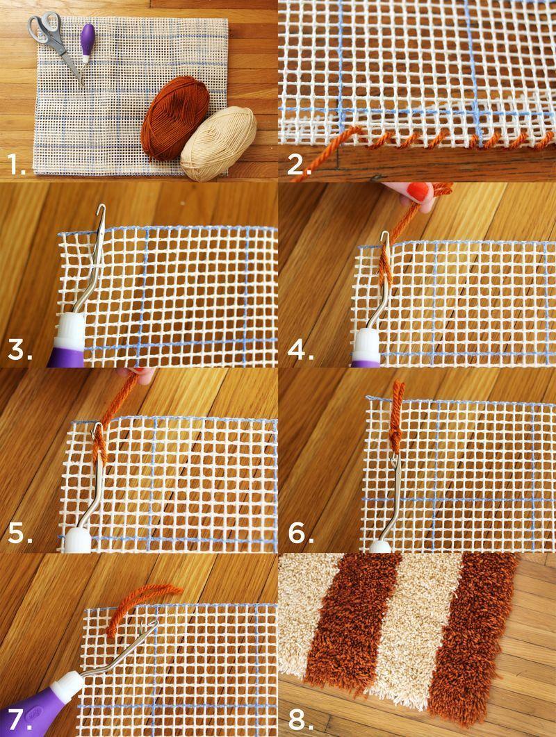 DIY Latch Hook Rug from Beautiful Mess   #DIY