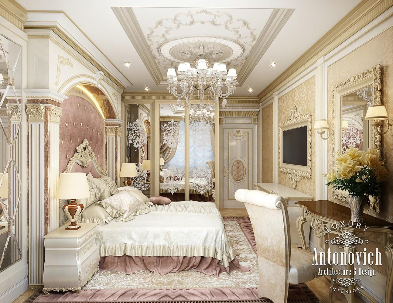 Royal luxurious bedrooms dream master bedrooms for Bedroom designs royal