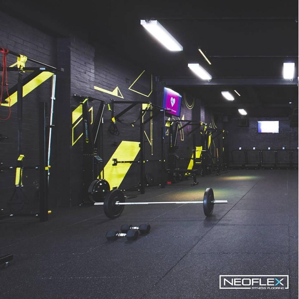 Neoflex Premium Gym Tiles At Highlite Hi Tech Fitness In Newcastle Australia Gym Flooring Gym Flooring Rubber Floor Workouts